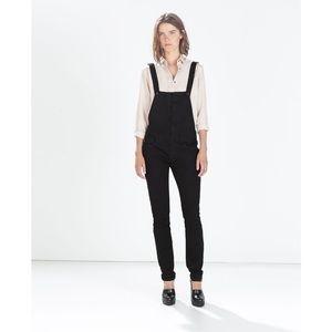 Zara Z1975 Denim Overalls in Black